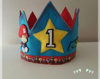 Crown birthday Mario Bros