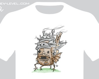 Howl's Moving Castle Sketch Tee - Howls Studio Ghibli T-Shirt by Rev-Level