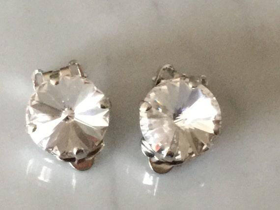 Swarovski Clear Crystal Clip On Earrings