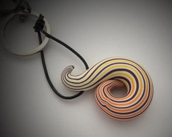 Key ring yellow swirl