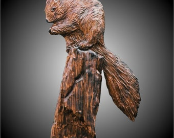 Tree Squirrel Version 1 Wall Sculpture