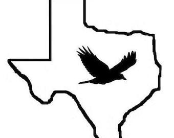 Texas Bird Custom Car Decal