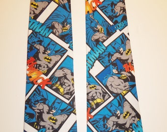 Batman Inspired Adult Necktie in Blue, White and Black