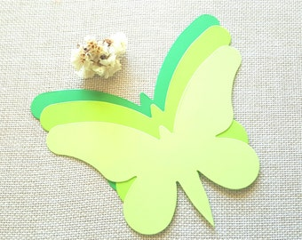 Large Butterfly die cut(A) Green butterfly die cuts Yellow butterfly cutouts Wedding Butterfly Paper butterfly die cuts Butterfly wall decor