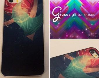 Ariel la petite sirène - sous l'eau pour iPhone 6 +, 6, 5 s, SE, 5c, 5, 4 s, 4 Samsung S5, S4, étui de téléphone S3 conception graphique imprimé par sublimation