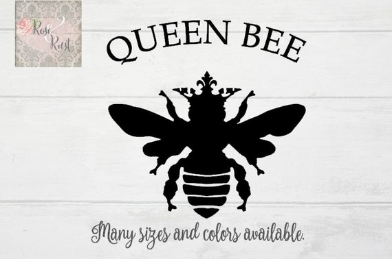 Queen Bee Decal Honeybee Decal Honey Bee Decal French Bee