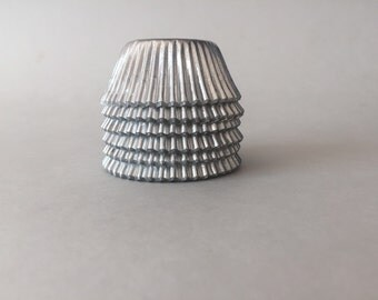 Silver foil Mini cupcake liners approx: 60