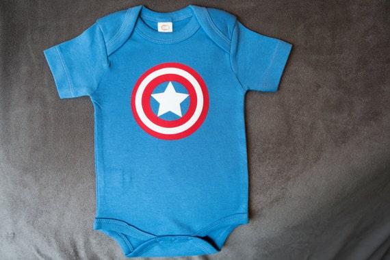 Organic Baby Avengers Captain America Inspired Uni Baby