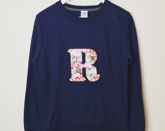 Personalised sweatshirt, mama initial sweatshirt, mom sweatshirt, ladies sweatshirt, matching mummy sweatshirt, twinning sweatshirt