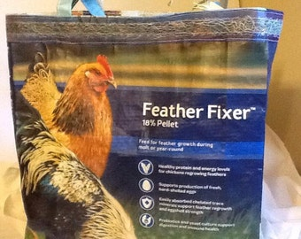 Feather Fixer Recycled Feed Bag