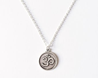 Om Coin Necklace