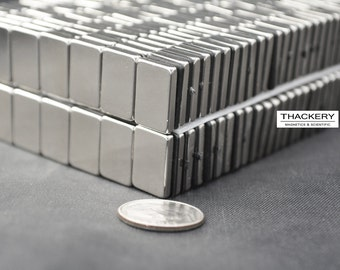 15mm x 10mm x 2.5mm rectangles / squares - 25  /  50 / 100 / 250 pcs SUPER STRONG MAGNETS - N42 Neodymium - rare Earth (C5)