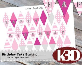 Mini cake bunting Etsy