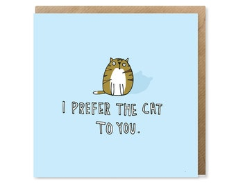 Original Funny Cat Valentine's Card