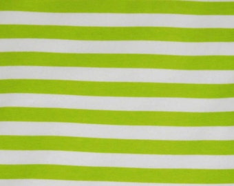 Knit Key Lime 1/2 inch Stripes Fabric 1/2 yard