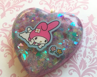 Fairy Kei My Melody flower necklace