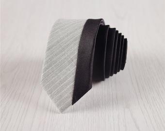 light gray wool ties.prom woolen necktie.striped skinny ties for men.men's gifts.party accessories.adults necktie.groomsmen gifts+nt284