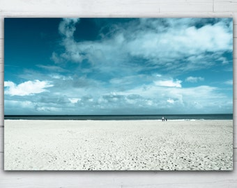 Direct photo print on acrylic glass - Blue infinite beach 12'x17' - limited edition