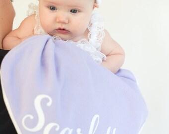 Purple Newborn Girl Name Hat, Newborn Blanket Set, Personalized Newborn Hat, Newborn Photo Prop, New Baby Hat, Baby Girl, Newborn Baby Hat