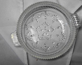 Simple and Beautiful Pressed Glass Dish 1970's