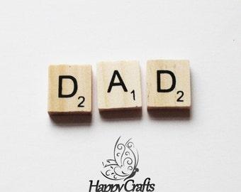 Wooden Letter Magnet Word Dad