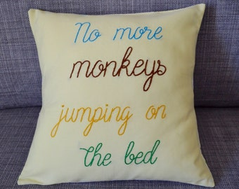Children's Throw Pillow (Monkey)