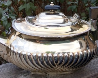 Exquisite Early 1900s Harrods of London SW Silver Plated Art Deco Teapot