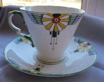 Art Deco Royal Stafford Teacup and Saucer