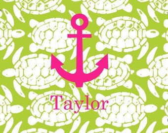 Turtleicious Anchor Monogrammed Car License Plate