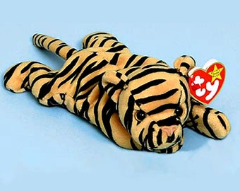 12 STRIPES The Tiger, Ty Beanie Babies plush cat, 4065, One Dozen, approx. 8.5in, NEW Never Displayed