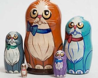 Nesting dolls cats matryoshka cat - kod3b
