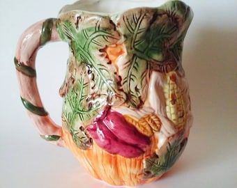 Fall Decor, Fall Pitcher, Ceramic Pitcher, Fall Gift, Fall Decorations