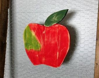 Rustic Wooden Apple ~ wood wall hangings