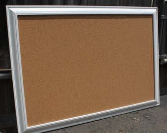 small white framed cork board bulletin board memo board white framed decorative cork bulletin board for kitchens offices or playrooms