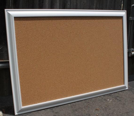 extra large framed cork board bulletin board by. Black Bedroom Furniture Sets. Home Design Ideas