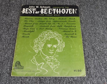 Best Of Beethoven Music Sheet By John W. Schaum C.1962
