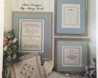 Happy Anniversary Leisure Arts #995  by Mary Scott Counted Cross Stitch  Pattern Leaflet