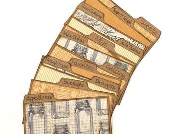 3x5 Recipe Card Dividers