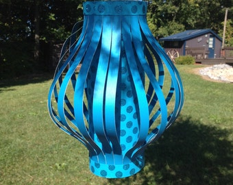 Teal Lanterns, Paper Decor, Wedding, Shower, Party, Country Chic