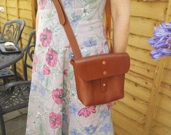 Leather Cross Body Bag...Veg Tan...UK