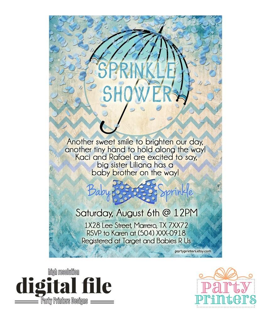 baby sprinkle invite  etsy, Baby shower