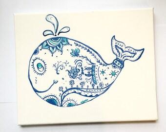 Whale Canvas
