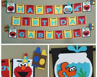 Elmo Banner, Elmo Birthday Banner