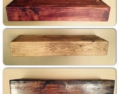 Rustic Style Floating Shelves - Custom Sizes & Finish - Hand Made to Order. Hardware Incl.