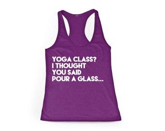 Purple Yoga Class Racerback Tank Top