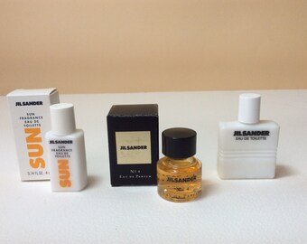 Jil sander Perfume mini, No. 4 edp,edt, and sun fragrance.