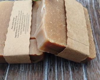 Lemon Green Tea Soap, green tea essential oil soap, castor oil moisturizing soap, natural green tea soap, coconut oil soap, handcrafted soap