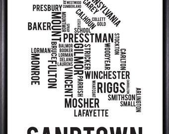 Sandtown-Winchester Baltimore Neighborhood Street Print