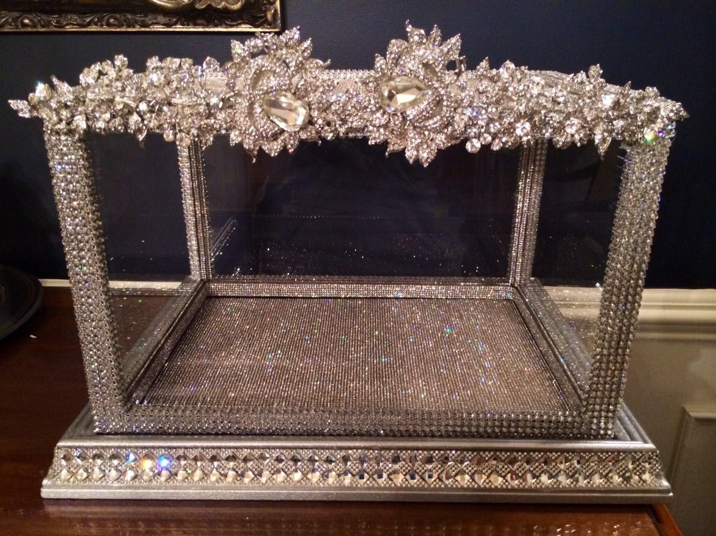 Crystal Rhinstone Wedding Card Box/Memory Box