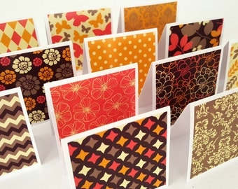 Blank cards / blank mini cards / thank you notes set of 12 / mini notecard set / mini cards / thank you cards